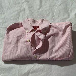 "Merona Size L Striped Long Sleeve Shirt Length 32"""
